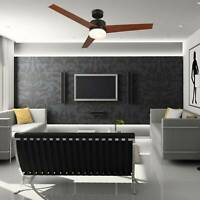 """52"""" Ceiling Fan Light with 3 Fan Blades Include 15W LED and Remote Control ac."""