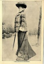 Pelzmode Paris Kurzer Pelzmantel mit Hermelinbesatz Histor.Aufnahme von 1903