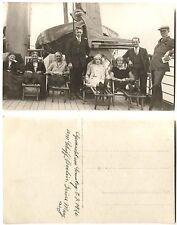 AK Gruppenfoto am Schiff BERLIN mit Rettungsboot 1926 ungelaufen