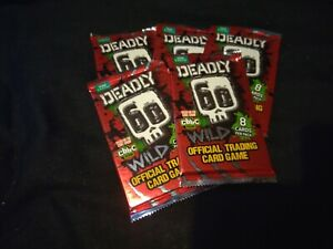 5 Packs Of BBC Deadly 60 Wild Trading Cards