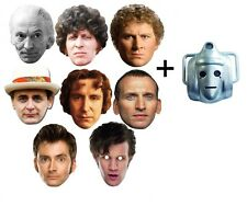 Doctor Who 50th Anniversary Variety 9 Set Card Face Masks with Classic Cyberman