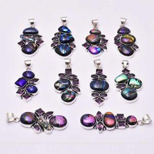 Fancy Dichroic Glass Amethyst 10 pcs Wholesale Lot  Pendant Jewelry Lot-1618