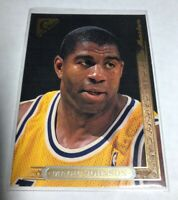 Magic Johnson Topps Gallery 1996 NBA #6 Los Angeles Lakers NBA Hard_8s_Magic