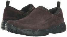 New wtags Crocs Swiftwater Leather Suede Moc Slip on Shoe Mens 10 Brown Espresso