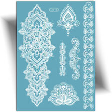 ►TATOUAGE TEMPORAIRE MARIAGE (éphémère dentelle, henna blanc, femme, stickers)◄