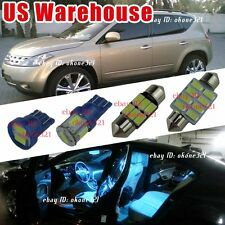 13-pc Aqua Blue LED Lights Interior Package Dome Kit for 03-07 Nissan Murano