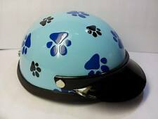 Helmet Hat Cap Dog Cat Costume Accessory Pet Supplies Safety Footprint Turquoise