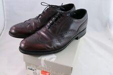 Florsheim Harvard Wingtip Cordovan Shoes Sz 9 D Wine Burgundy Oxford Brogues