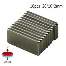 10Pcs N52 Neodymium Block Magnet 20x10x2mm New Super Strong Rare-Earth Magnets