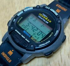 Vintage Timex Ironman Men 100m Digital Alarm Chrono Diary Watch Hour~New Battery