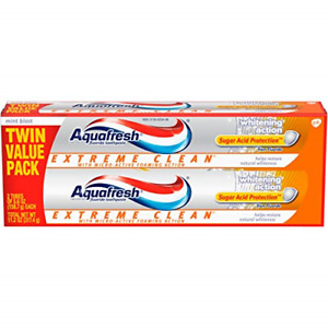 Aquafresh Extreme Clean, Whitening Action, Fluoride Toothpaste for Cavity 11.2