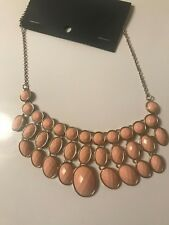 H&M CONSCIOUS TREND DIVIDED CHANDELIER BIB LIKE NECKLACE NWT