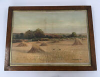 George Oyston Original Watercolour Landscape Painting Framed Signed 1906