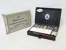 Antique Reeves No 61A Students Colour Paint Box Metal Tin w/ Original Box - 254