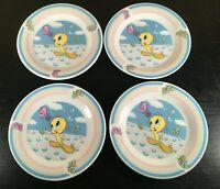 "(4) Gibson LOONEY TUNES Tweety Bird 7"" Plates"