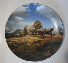 "Hadley Collection Terry Redlin Plate "" Oh Beautiful For Spacious Skies"" Used"