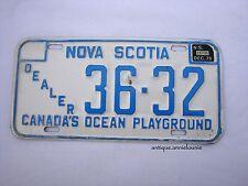 1975 NOVA SCOTIA Vintage License Plate DEALER # 36-32