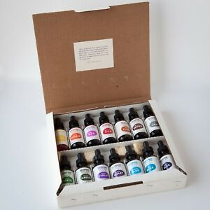 Complete Set 14 RETOUCHING COLORS FOR PRINTS Dyes Tints Inks For Photos