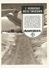 Y2320 ASPIRINA i pericoli dell'inverno - Pubblicità del 1942 - Old advertising