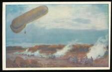 """644599) Zeppelin AK """"Fesselballon, unsere Artilleriewinkung beobachtend"""" 1916"""