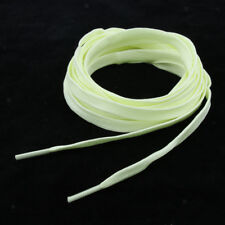 1 Pair Fluorescent Knitted Shoelace for Roller Skates Boots Hockey Yellow