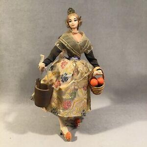 "PV07066 Vintage Mid Century Souvenir Costume Doll - 11"" SPANISH WOMAN"