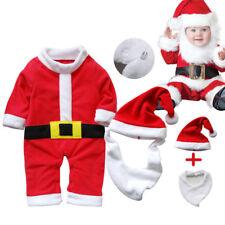 3pcs Natale bambino BABBO TUTINA+CAPPELLO+bavaglino Costume COMPLETI