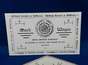 Masonic Mark Paper Token for Lodge Pitgaveny 681