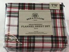 Bee & Willow Home Twin Flannel Sheet Set - Tartan Ivory