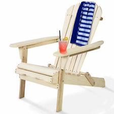 Foldable Fir Wood Adirondack Chair Outdoor Patio Deck Garden Furniture New