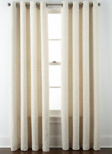 NEW JCPenny Grommet Curtain Panel Anza Floral Ivory 50 x 63