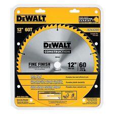 """DEWALT DW3126 Series 20 12-Inch 60 Tooth ATB Thin Kerf Miter Saw Blade 1"""" Arbor"""