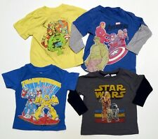 Mixed Lot of 4 Boys Play Shirts 24M-3T Avengers Star Wars Transformers