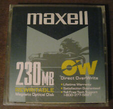 "Maxell RO-M230 -- 3.5""  Direct Overwrite 230MB R/W Magneto Optical Disk - New"
