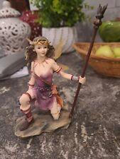 Faerie Glen Stellaluma Warrior Mace & Spear Fairy Figurine Fg847 2004