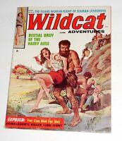 Wildcat Adventures Erotic Pulp Magazine June 1960~Basil Gogos Cover~Cheesecake
