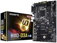 Gigabyte GA-H110-D3A Intel LGA1151 DDR4 USB 3.1 m.2 GB LAN ATX Motherboard - Bla