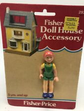 Vintage 1983 Fisher Price Doll House Accessory Child Figure