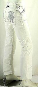 Jeans Uomo Pantaloni ENERGIE B752 Gamba Dritta Bianco Tg 33