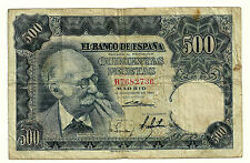 BILLETE DE 500 PESETAS DE 1951 (BC-) BENLLIURE (SERIE B)