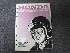 1985 1986 1987 Honda Model NB50 Aero 50 Scooter Shop Service Repair Manual Book
