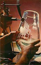 Engraving of Steuben Glass Corning Glass Center New York Postcard