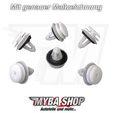 20x VERKLEIDUNGS CLIPS BEFESTIGUNGSKLIPS MIT DICHTUNG BMW E46 E60 E90 E34 #NEU#