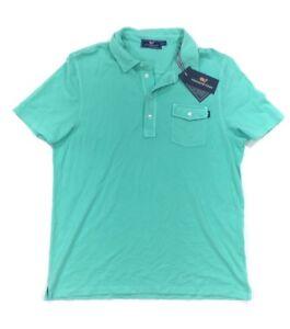 NEW Vineyard Vines Mens Size M L Capri Blue Aqua Pique Short Sleeve Polo Shirt
