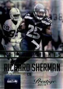 2015 Panini Prestige Extra Points Green #12 Richard Sherman  Seahawks