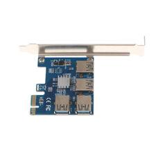 4Port USB PCI-E X1 to PCI-E X16 Express Card Controller Adapter Mining Card