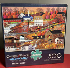 "Charles Wysocki Americana Collection 'Waterfall Valley' 500 Pc Puzzle 21.2""x15"""