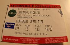 Ticket for collectors EC Liverpool FC - Celtic FC 1997 England Scotland