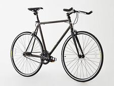 BRAND NEW FIXED GEAR BIKE SINGLE SPEED FREE WHEEL-FIXIE ROAD BIKE -10.5 KG BROWN