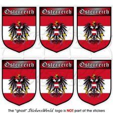 AUTRICHE Autrichien Autriche Écusson, 40mm Vinyle Autocollants, x6 Stickers